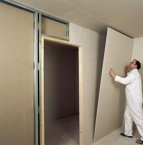 Как из гипсокартона поставить стену
