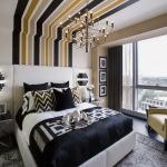 Комбинированный потолок в спальне