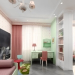 Комната для школьника, оформленная флизелиновыми обоями