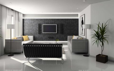 Комната в серых тонах поможет визуально увеличить пространство