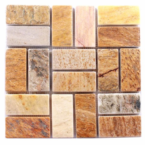 Мозаика из природного камня - сланец