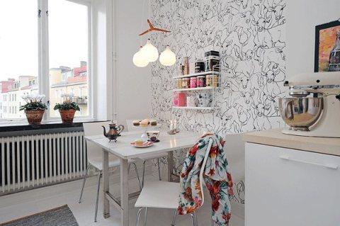 Нейтральный рисунок успокоит на кухне при длительном нахождении