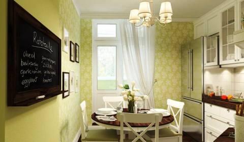 Обои для кухни в цветочек на ванильном фоне