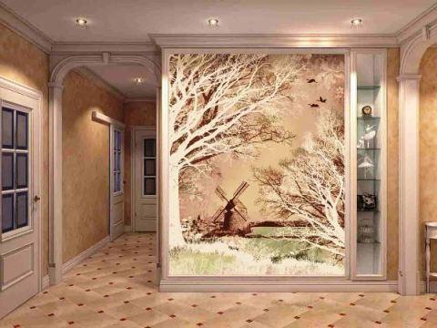 Обои в коридоре, как скомбинировать: дизайнерские идеи.