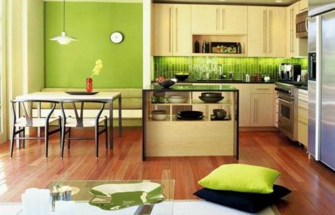 Подбираем цвет обоев для кухни