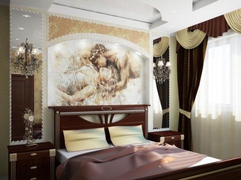 Покраска стен в спальне дизайн с романтическим уклоном