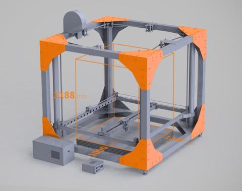 Принтер для печатания крупных конструкций