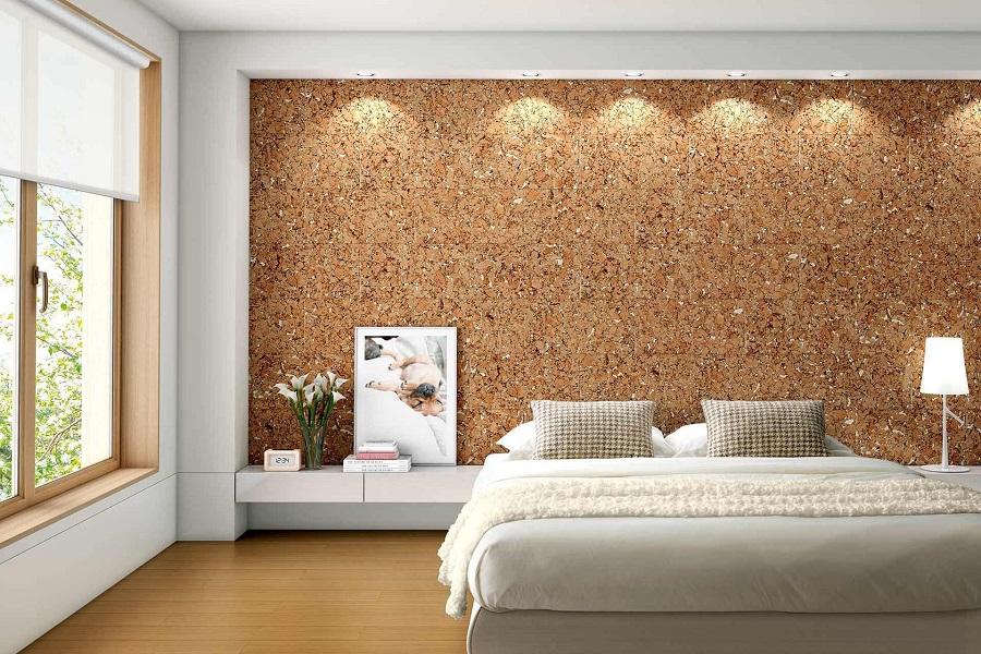 Пробковый дизайн спальни