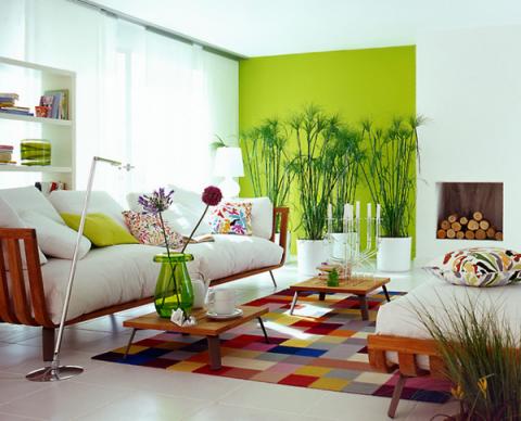 Разные цвета стен помогут зонировать помещение