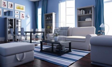 Синий цвет – цвет моря, глубины и тайны, поэтому он подарит интерьеру стиль и спокойствие.