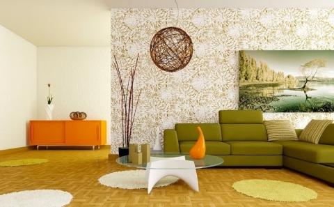 Сочетание холодных цветов в интерьере помещения