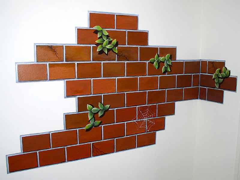 Кирпичная стена дизайн своими руками