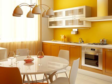 Теплый цвет сделает кухню более ветлой