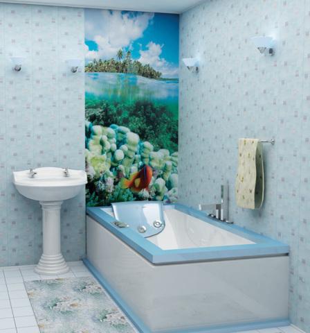 Выделяем зоны в ванной