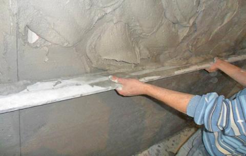 Выравнивание стен при помощи раствора