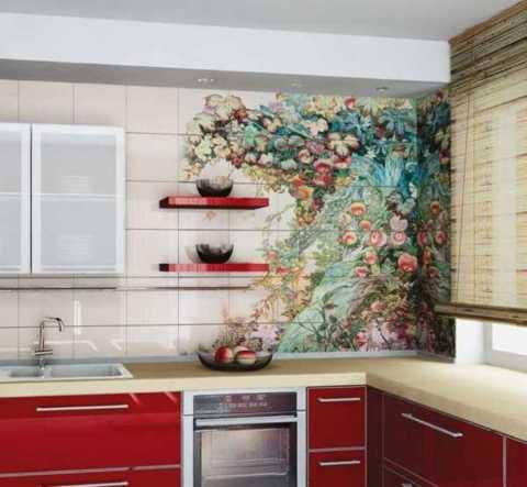 Белая кухня цветные стены внесут разнообразие в повседневную жизнь