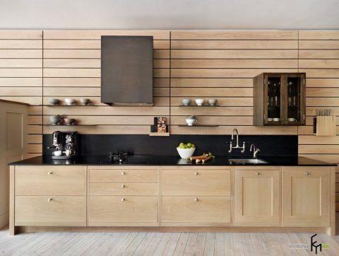 Деревянные панели для отделки кухни