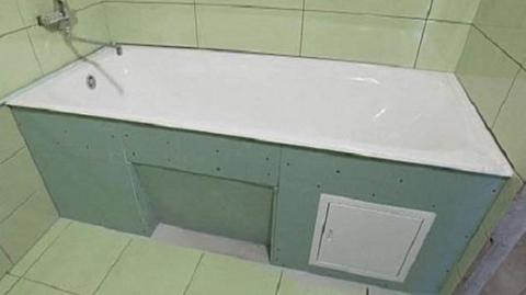 Экран в ванной из гипсокартона
