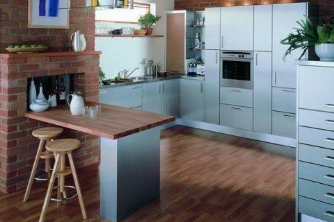 Голубая палитра в кухне