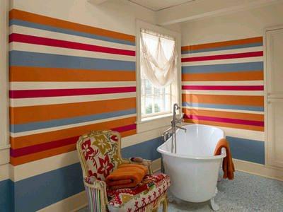 Горизонтальные полосы на стенах
