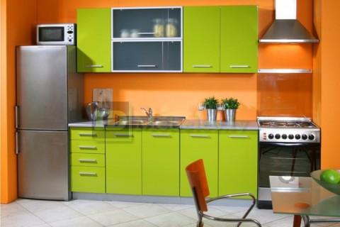 Оранжевый цвет стен для кухни