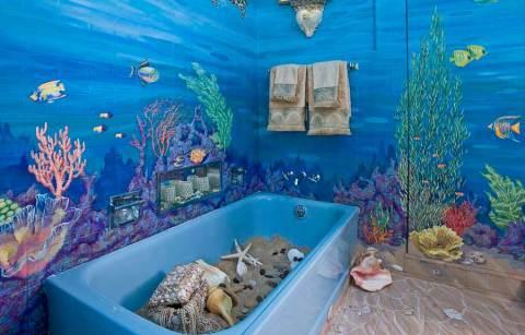 Отделка всех стен ванной самоклеющейся пленкой