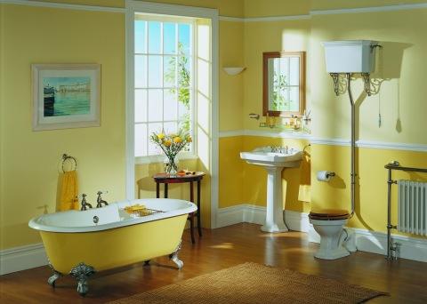Разное насыщение цветов в ванной комнате