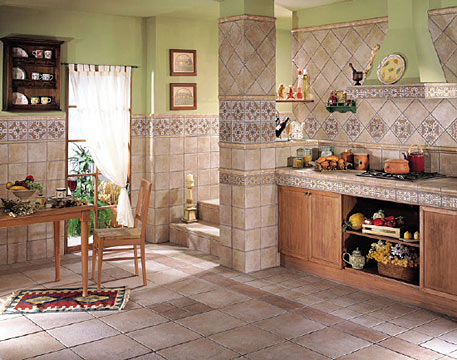 Выбираем одну коллекцию плитки для пола и стен