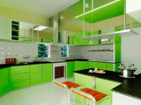 Зеленая палитра