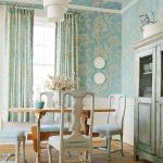 Кухня в нежно- голубых тонах