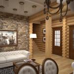 Перегородку внутри дома можно возвести из ГВЛ или ЦСП, и облицевать плиткой или декоративным камнем