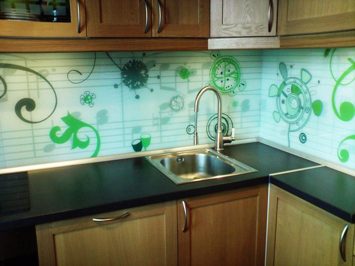Панели для кухни с рисунком из пвх
