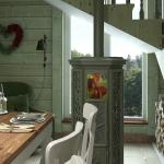 Цветные пропитки могут быть единственным отделочным материалом для деревянного дома