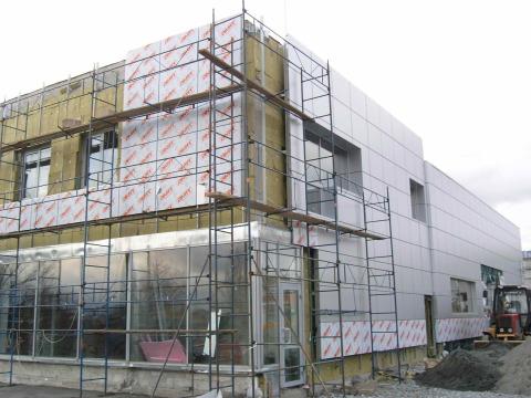 Утепление здания по системе вентфасада