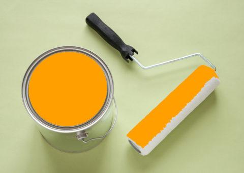 Краска светящаяся желтая