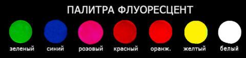 Цветовая гамма краски