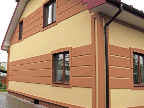 Декоративная штукатурка на фасаде жилого дома