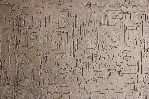 Фактурная штукатурка с эффектом «Короед» для внутренних работ