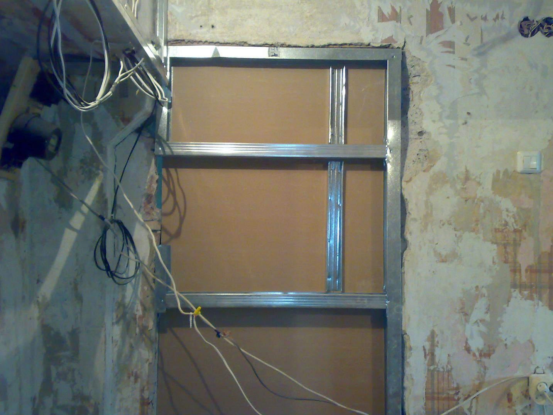 Как сделать проём для двери из гипсокартона