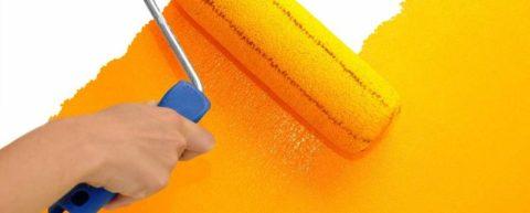 Окрашивание оштукатуренной поверхности