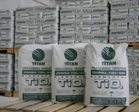 Титановые белила крымского производства