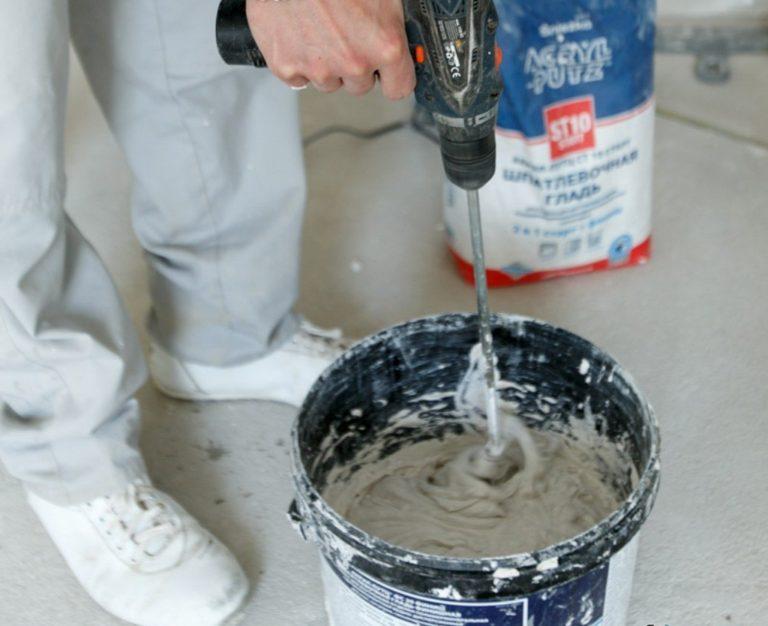 Как сделать шпаклевку самому: приготовить шпаклевочную смесь для стен
