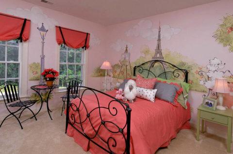 Романтичная спальня для девочки