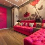 Розовый цвет хорошо сочетается с земляными коричневыми оттенками