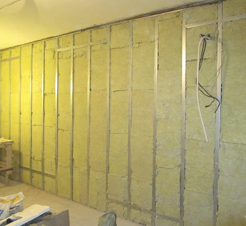 Стена из гипсокартона своими руками шумоизоляция 26
