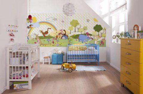 Светлая комната для новорожденного
