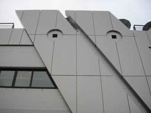Облицовка фасада композитными алюминиевыми панелями