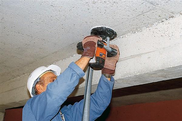 Специальная шлифмашинка по бетону с пылесосом