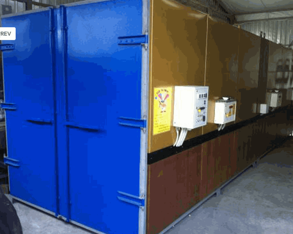Заводская печь для работы с порошковыми красками