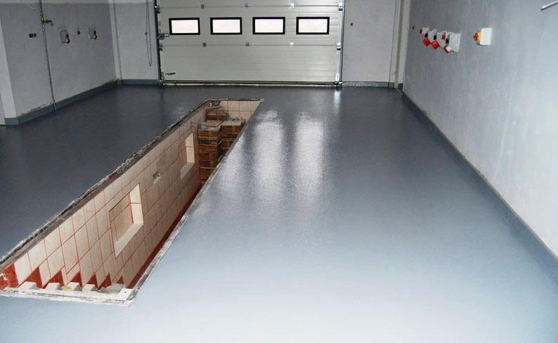краска бетон пол